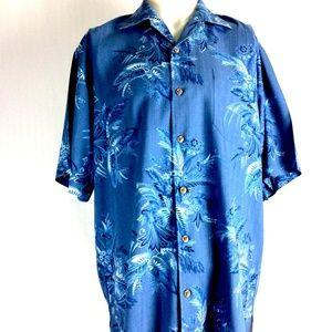 Tommy Bahama Hawaiian Shirt Silk Short Sleeve